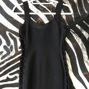 Black Marciano Mini Black Dress #marciano